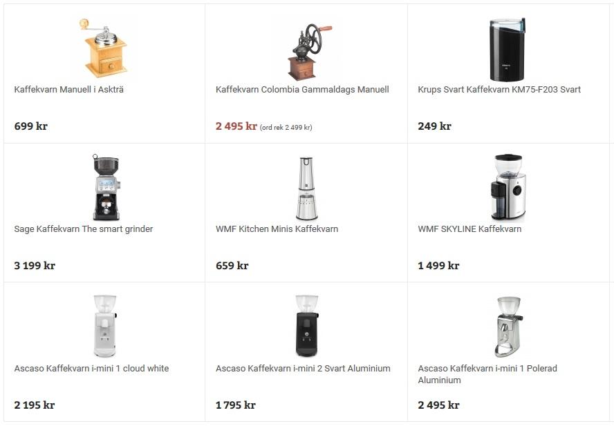 Bagaren och Kocken - Kaffekvarnar2